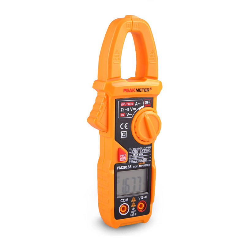 PM2018S Digital dual-display auto range clamp meter multimeter with AC/DC voltage resistance test tester multimeter gifted high new dual digital open small clamp multimeter clamp meter backlit digital display multi function ua2008e