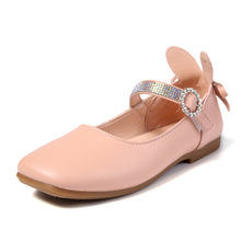 2019Spring Autumn Childrens Kids leather shoes Girls Princess Shoes Girl Rhinestone Dance Wedding Party Dress Pink Black