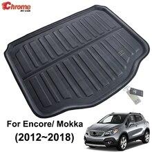 Dla Buick Encore/Opel/Vauxhall Mokka 2013 2014 2015 2016 2017 2018 Boot Mat wkładka do bagażnika Cargo dywan na podłogę akcesoria samochodowe
