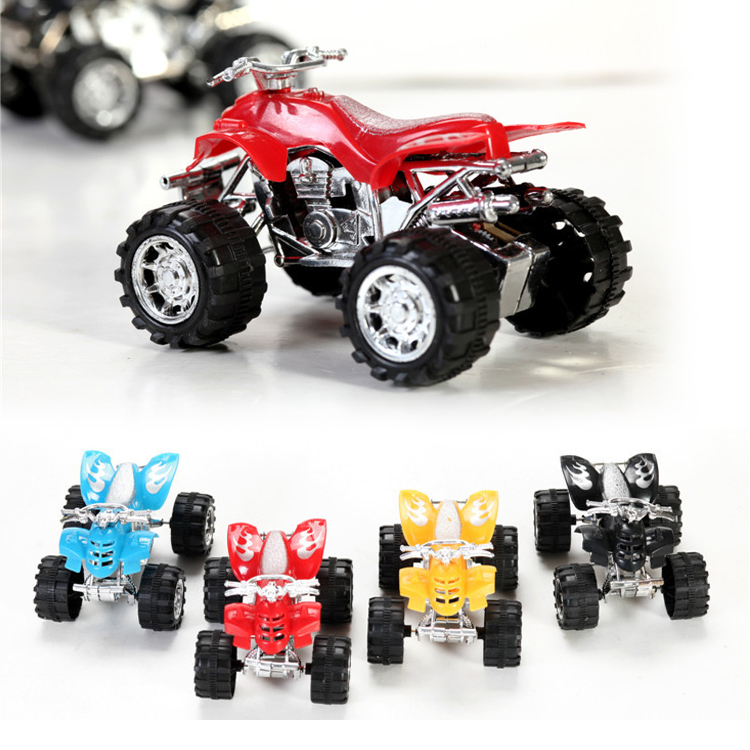 hot sale wind up mini beach four wheel motorcycle toys pull back toys car model