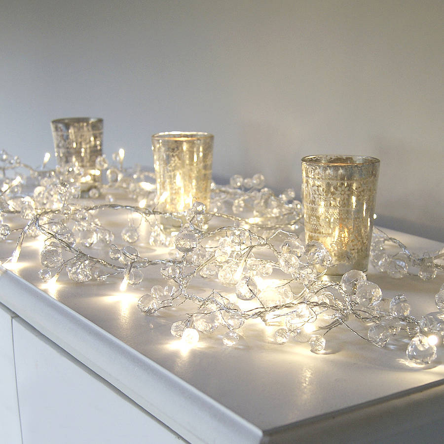 clear crystal led light garland home room fairy lights 1 5meters