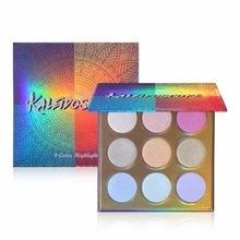 9 Colors Highlighter Palette Contour Powder Waterproof Long-Lasting Luminous Shimmer Face poudre visage