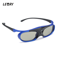 LEORY Shutter 3D Glasses DLP Link 3D Projector Active 3DGlasses With Rechargeable Battery For Epson Optoma