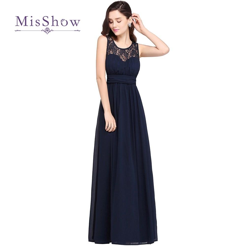 Robe De Soriee New Simple Wedding Dress Full Sleeve Lace: MisShow Robe De Soiree Longue Simple Beach Lace Evening
