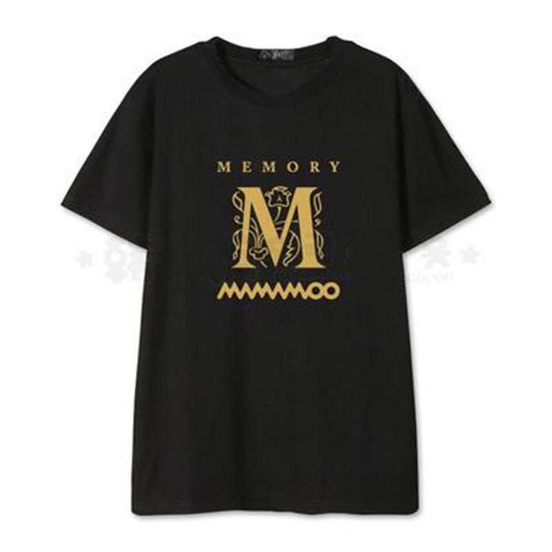 US $10 13 22% OFF|ALLKPOPER Kpop MAMAMOO MEMORY T shirt Unisex HWASA Tshirt  Solar Cotton Short Sleeve Tee-in T-Shirts from Women's Clothing on