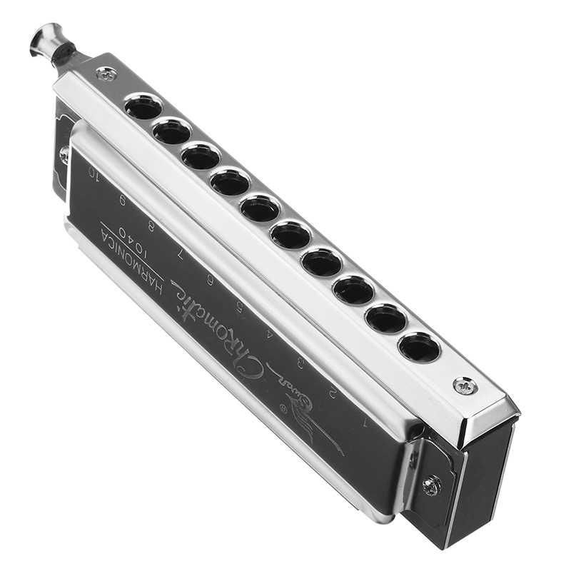 Лебедь SW1040-5 округлый мундштук 10 отверстий 40 тонов Хроматическая гармоника переключаемый деревянный духовой музыкальный инструмент Губная гармошка с изображением лебедя