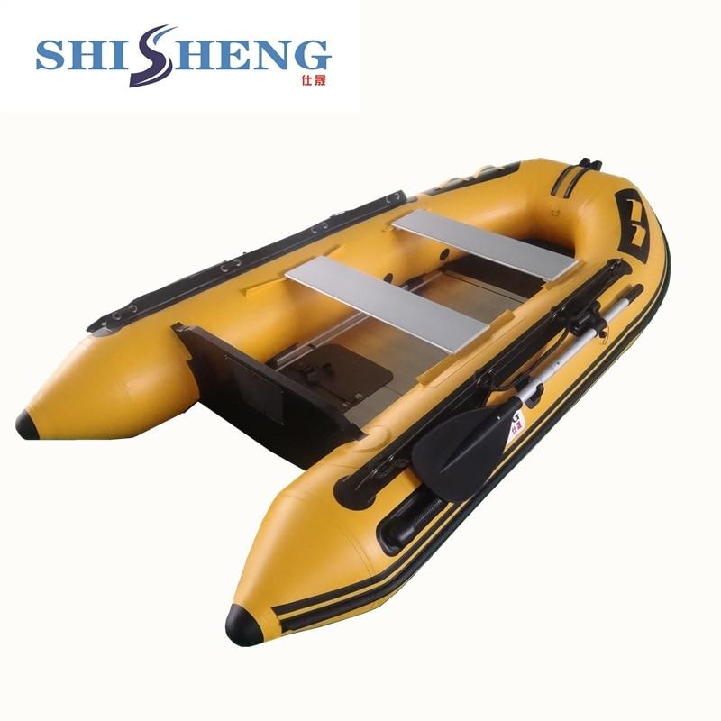 아름다운 노란색 풍선 낚시 바다 배 / 풍선 보트 낚시
