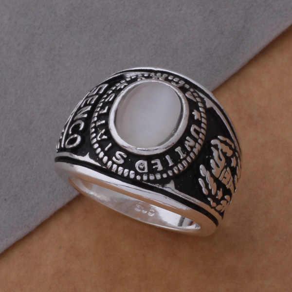 Đồ Trang Sức cổ điển Big Nhẫn Với Đá Đầy Màu Sắc Trắng/Hồng/Màu Xanh Lá Cây Ring Cho Phụ Nữ Men AR363-365