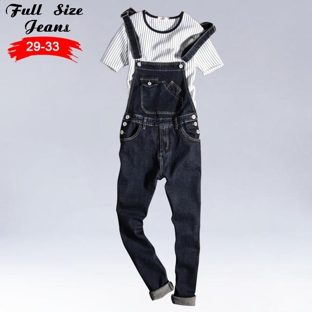 cca0ea4c85 US $60.0 |Uomo Più Il Formato Casual Tasca Denim Nero Tute e Salopette 4Xl  3Xl Vintage Sottile Tute e Tute da Palestra Pantaloni Strappati Jeans Per  ...