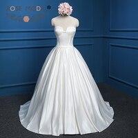Роза Moda Винтаж бальное платье без бретелек свадебное платье с карманами развертки Поезд корсет Назад плюс Размеры Vestidos De Noiva