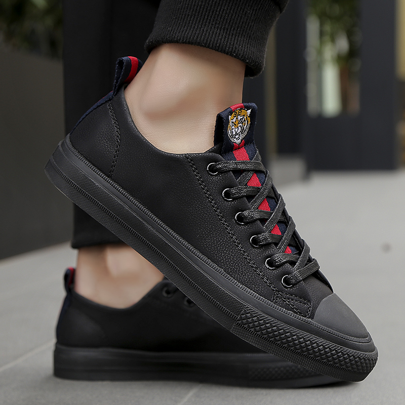 2ce68c1591e0 ... Male Brand Rubber Soles For Leather Men Men s Men Casual Red Shoes  Black Shoes Youth Footwear