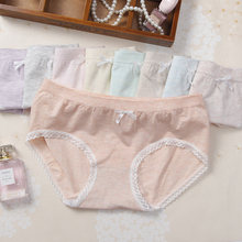 ZUIMIMI women lace briefs lovely girl bow-knot panties Seamless Striped Colored Cotton underwear