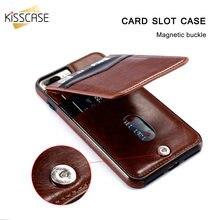 Kisscase Вертикальный Флип держатель карты кожаный чехол для iPhone 6 6S плюс X XR XS Макс Ретро Чехол сумка для iphone 7 8 плюс кошелек Чехол чехол на айфон 6 S 8 плюс чехлы на айфон X 7 плюс чехол на айфон XR XS Макс