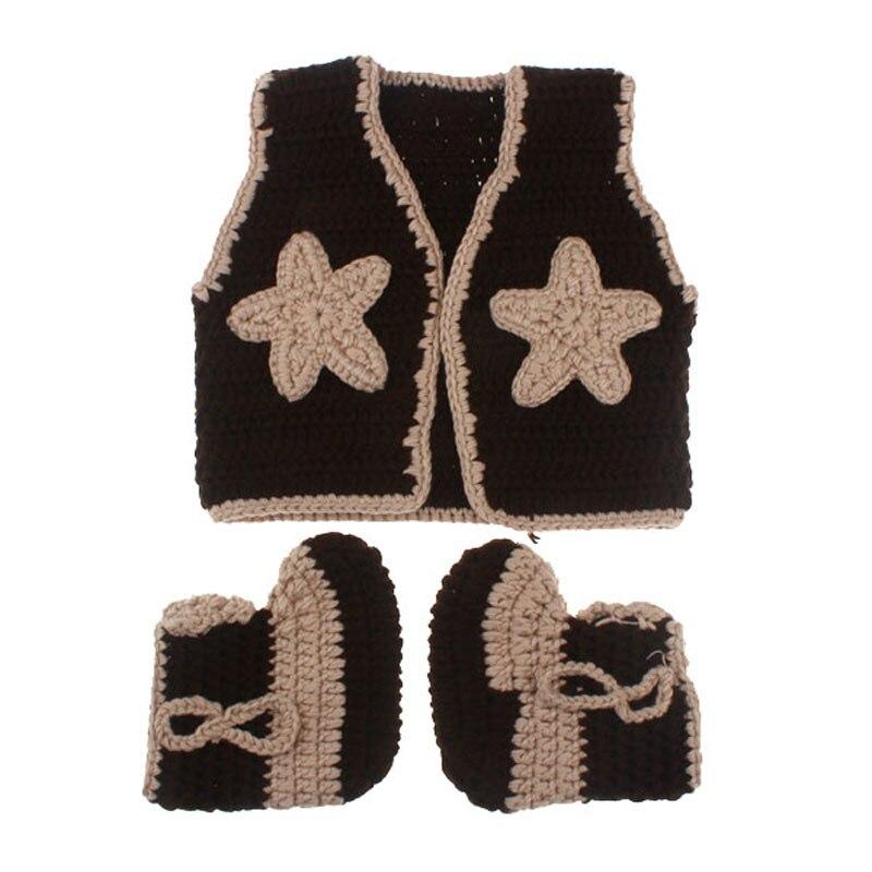 Vaquero Botas y chaleco conjunto patrón de ganchillo traje infantil ...