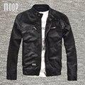 Más el tamaño negro abrigos chaqueta de cuero genuino 100% de piel de Cordero verdadero cuero de la motocicleta chaquetas manteau homme veste cuir homme LT729