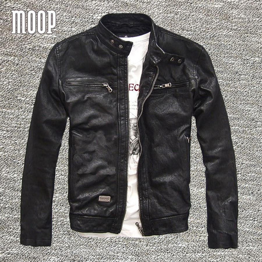 플러스 사이즈 블랙 정품 가죽 재킷 코트 100 % 램 스킨 진짜 가죽 오토바이 재킷 Manteau 옴므 Veste Cuir 옴므 LT729