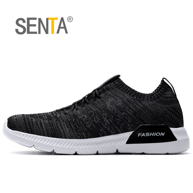 SENTA hot sale running shoes for men women sneakers sport sneaker cheap Light Runing Breathable Slip-On Mesh (Air mesh) apple summer new arrival men s light mesh sports running shoes breathable fly knit leisure comfortable slip on sneakers ap9001
