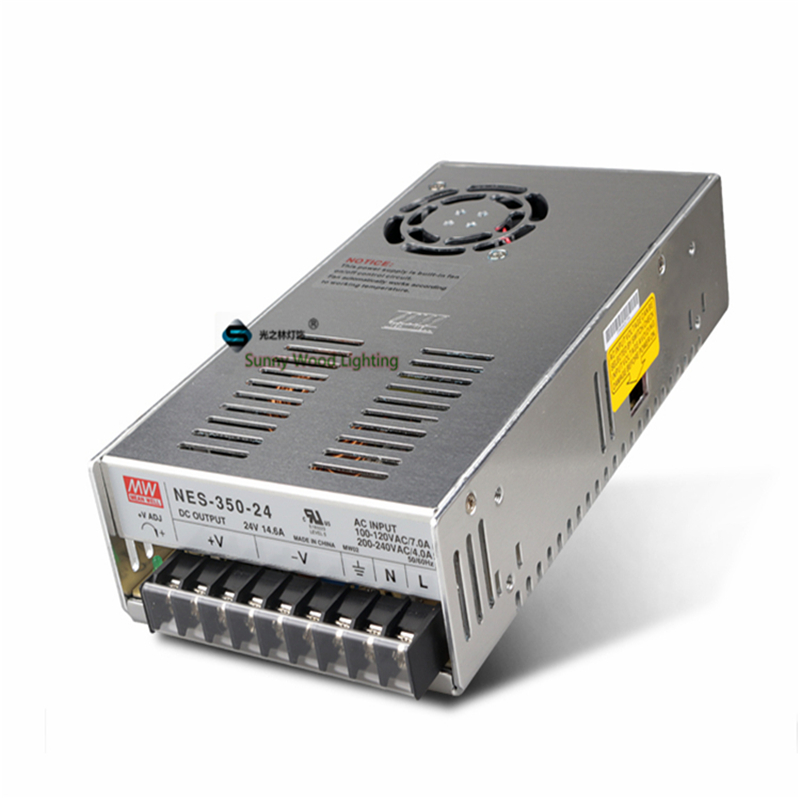 100-240Vac to24VDC ,350W ,24V14.6A  UL Listed  power supply ,Led light,led signboard driver ,NES-350-24 90w led driver dc40v 2 7a high power led driver for flood light street light ip65 constant current drive power supply