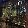 levou 300 3m*3m string cortina luzes de natal ano novo lâmpadas de jardim luzes pingente natal decorações festa de casamento frete grátis