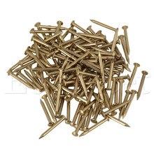100 шт 15 мм архаизмы мебель медный миниатюрный гвоздь с круглой головкой латунь