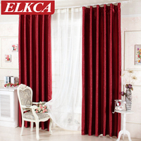 Luxury Rose Printed Red Blackout Curtains for Living Room Window Curtains for the Bedroom Kitchen Beautiful Modern Curtains
