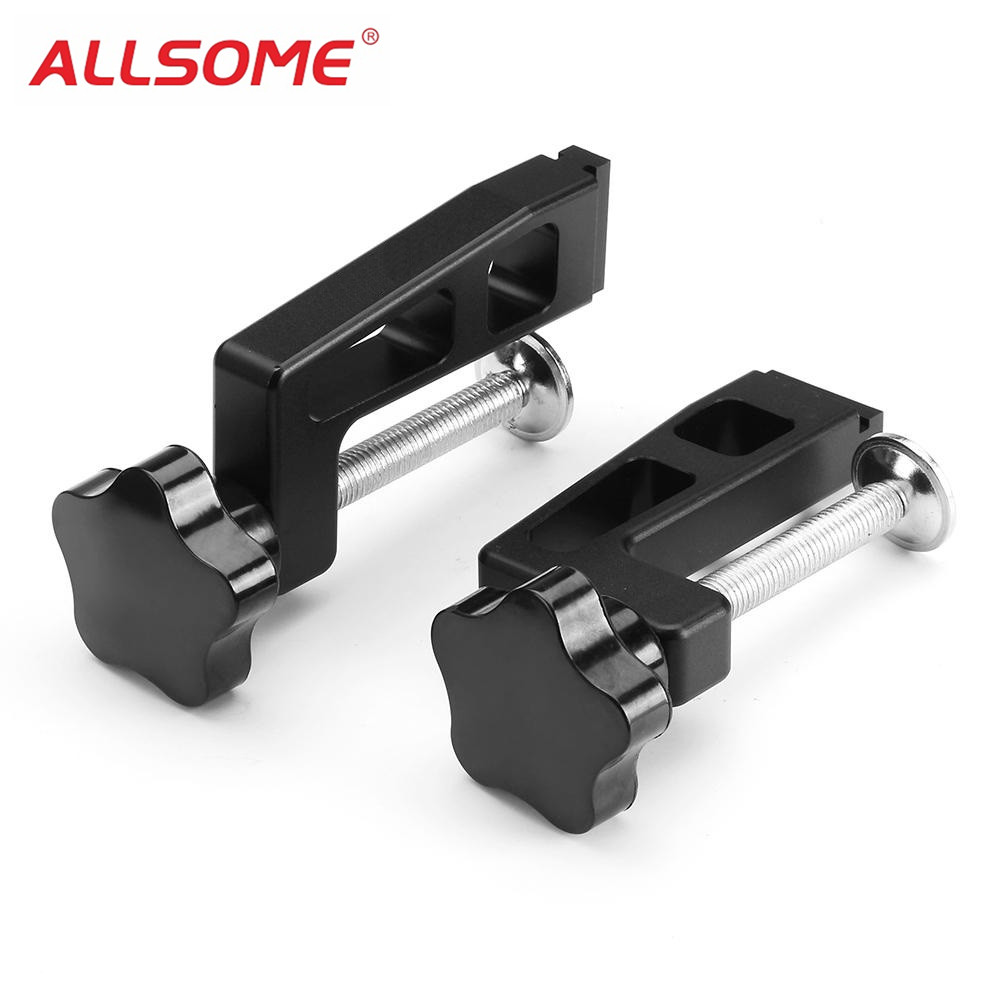 цена на ALLSOME 45-type Woodworking Clamp G Clip Dedicated Fixture for T-track Chute Woodworking Tool HT2281