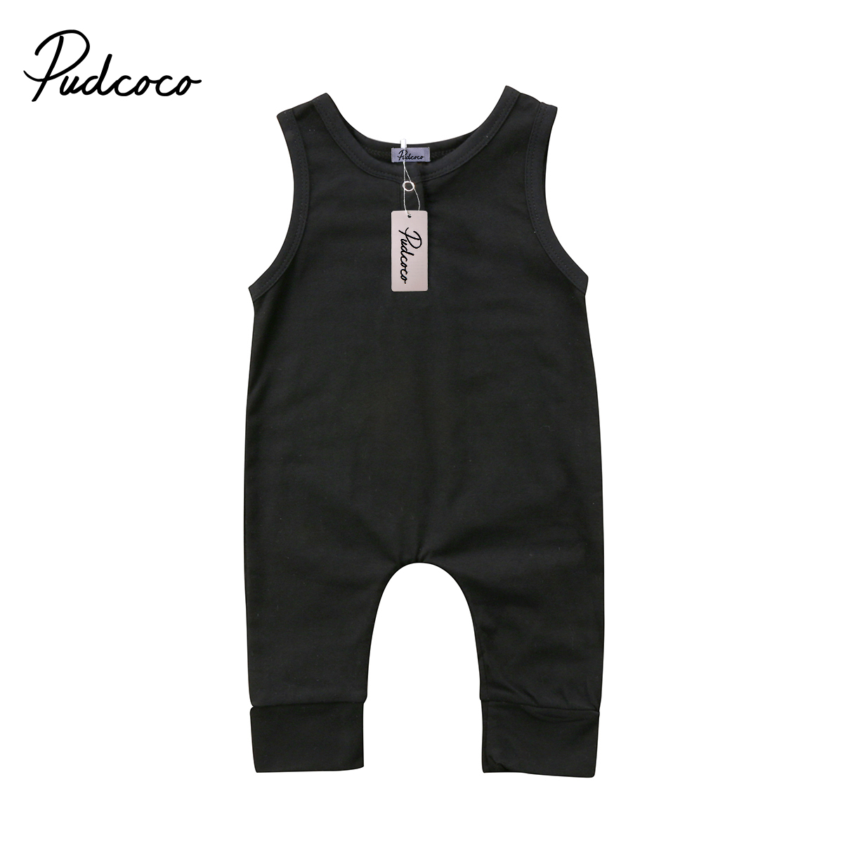 2018 Brand New Newborn Toddler Infant Kids Baby Girls Boys Romper Sleeveless Jumpsuit Harem Pants Clothes Solid Outfits 0-18M newborn baby backless floral jumpsuit infant girls romper sleeveless outfit