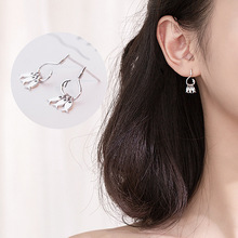 Silver Earrings Cute Fish Family Stud 925 Lucky Hook For Women Girl Originality Fashion Jewelry