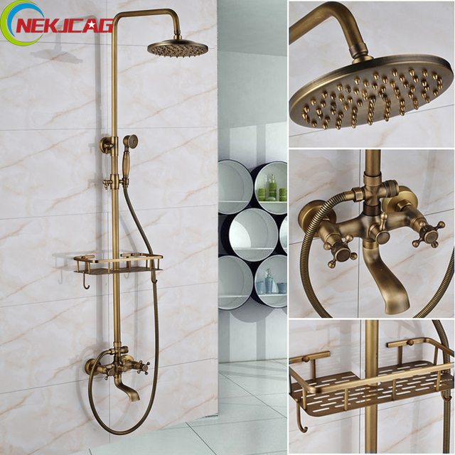 Badezimmer Langen Nase Outlet Wasserhahn Antique Brass Dusche ...