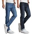 Famous Brand Jeans Hombres Jeans de Mezclilla de Algodón Casual Straight Lavados Delgado Luz Del Verano Pantalones Vaqueros Rasgados Pantalones Vaqueros Homme
