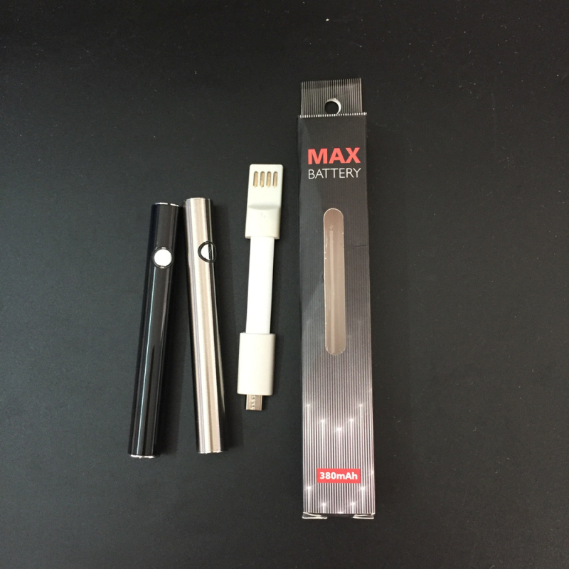 510 Thread Max Preheating Battery E Cigarette 380mAh CBD Adjustable Voltage Preheat for Thick Oil Cartridge Atomizer Pen Kit510 Thread Max Preheating Battery E Cigarette 380mAh CBD Adjustable Voltage Preheat for Thick Oil Cartridge Atomizer Pen Kit