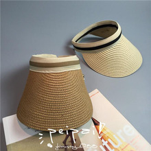 SUOGRY Cute Bow Sun Hat Female Beach Hat Wide Brim Straw Visor Hat Cap Summer Hats For Women Caps Chapeau Femme Sun Visor Girls