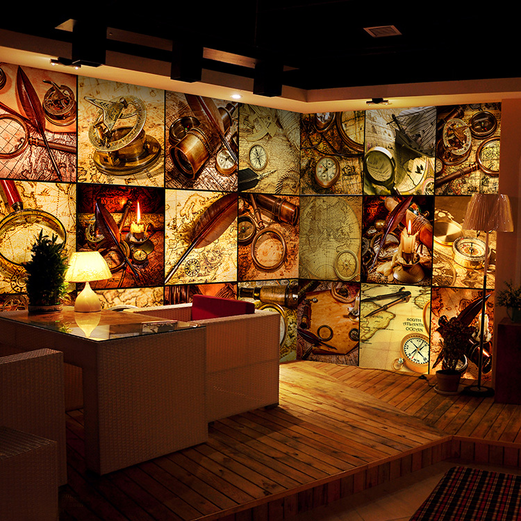 Bar Wallpaper: Aliexpress.com : Buy Custom Tea Shop Restaurant Cafe Bar