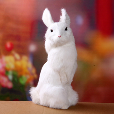 big simulation rabbit toy polyethylene furs rabbits model gift about 30x12x15cm