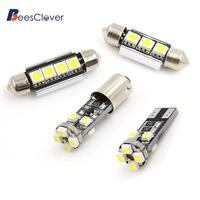 BEESCLOVER 21pcs White Car Dome Map Reading LED Interior Light For BMW E46 Sedan Coupe M3