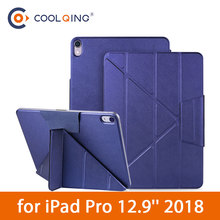 Magnetic Tablets Case For iPad Pro 12.9 2018 Cases Multifolded Magnets Protective Cover Smart