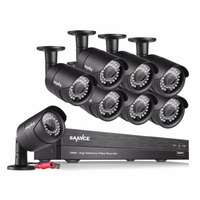 SANNCE 8CH HD 1080P CCTV System 2 0MP Home Security Cameras 1920 1080P Outdoor Waterproof CCTV