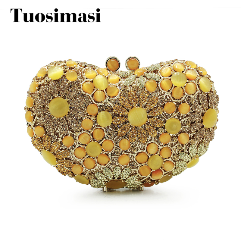 Yellow Peacock Shape Luxury diamante Wedding Clutch Bag Bridal Party Prom Purse Ladies Crystal Evening Bag(88204-Y) beautiful rose shape flower ladies bridal wedding party crystal clutch evening bag 8679a g