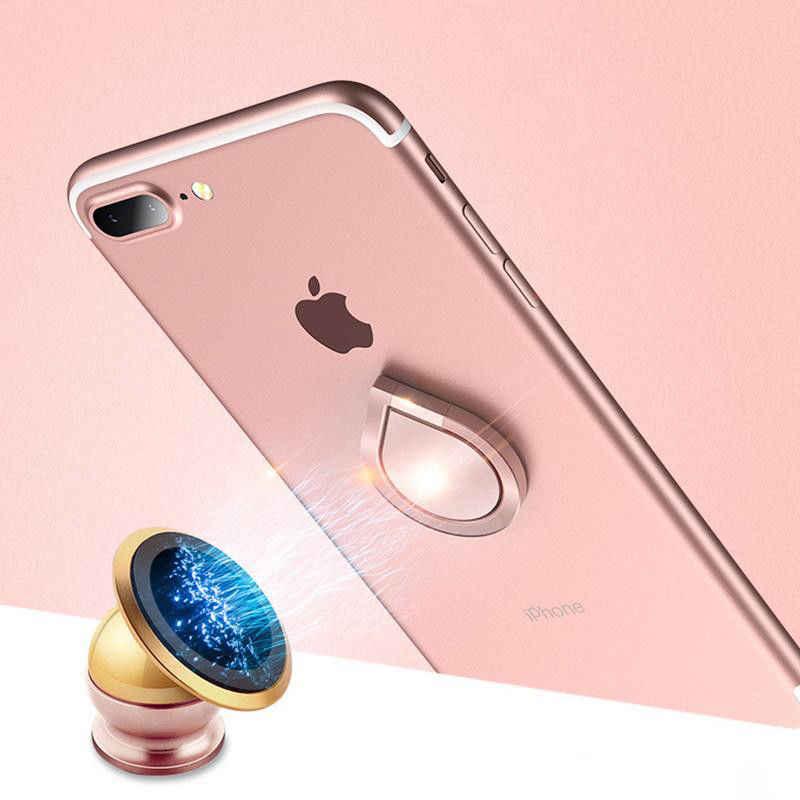 Cool Waterdruppels Vinger Ring Houder 360 Graden Draaibare Mobiel Stand Universele Vinger Ring Grip Magnetische Auto Telefoon Houder