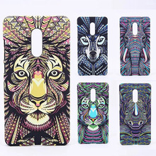 Brand Animals Lion Wolf Owl Pattern Hard Back Phone Case For Xiaomi Redmi Note 4 Glow In The Dark Luminous Forest King Case