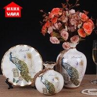 3pcs/set Chinese Retro Ceramic Vase Vintage Chinese Style Animal Vase Fine Smooth Surface Home Decoration Furnishing Articles