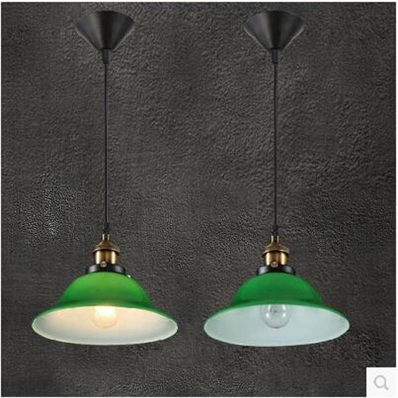 Simple European style retro glass Pendant Lights office lamps living room bedroom living bar loft Pendant lamp LU728300 european style living room american iron retro stair lamp simple aisle lights creative bedroom pendant lights