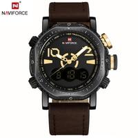 NAVIFORCE Men Sport Watches Dual Display Watch Men LED Digital Analog Electronic Quartz Watches 30M Waterproof Male Clock