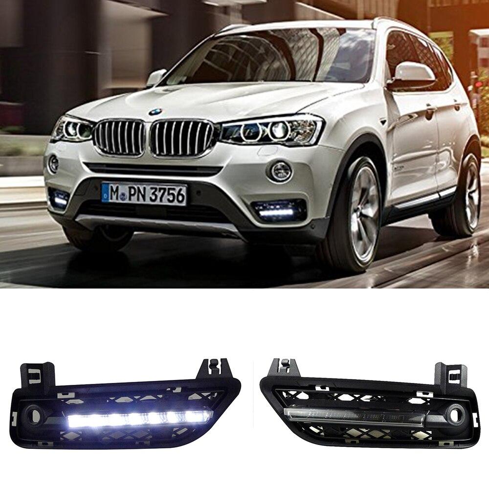 Car drl kit for bmw f25 x3 2011 2012 led daytime running light bar super bright
