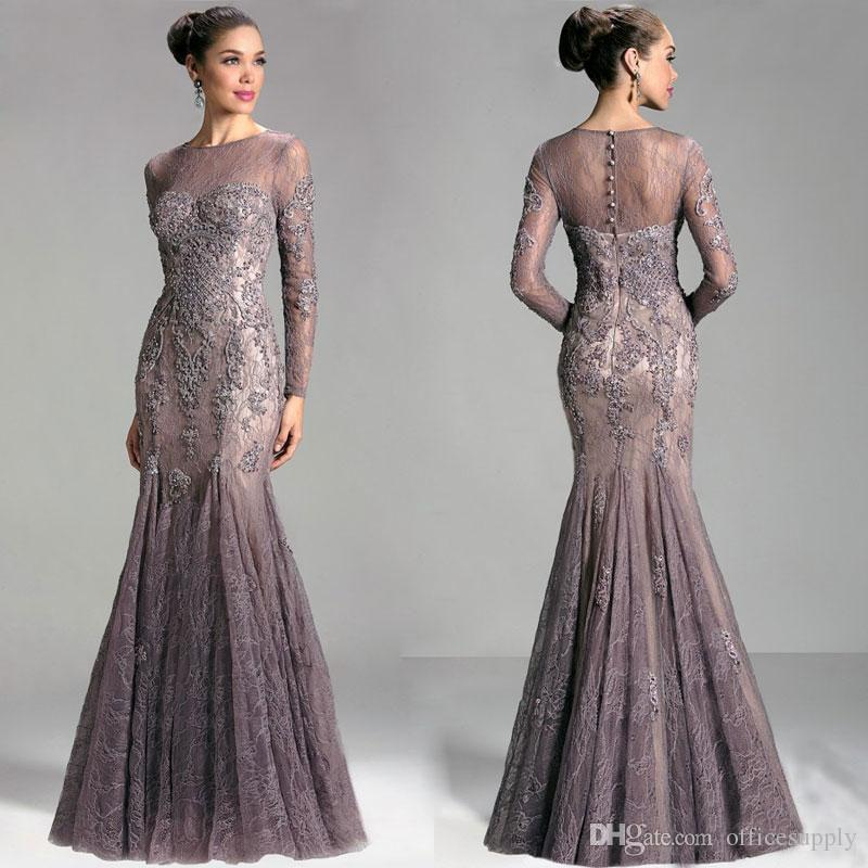 Saudi Arabia Dubai Long Sleeve Elegant Formal Evening Gowns 2017 ...