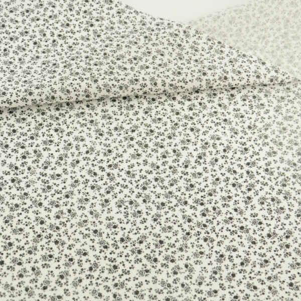 Pequeno Preto Flor Impresso Tecido 100% Algodão Pré-cut Desenhos Lindo Patchwork Tecido Fat Quarter Artesanato Bonecas de Tecido De Costura CM