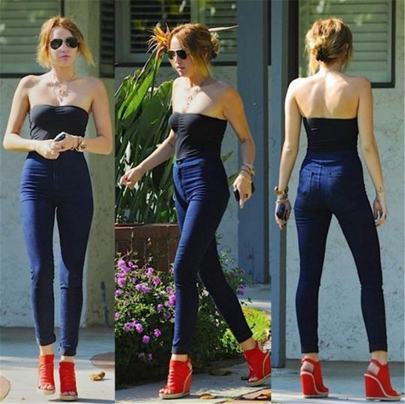 18 New Fashion Jeans Women Pencil Pants High Waist Jeans Sexy Slim Elastic Skinny Pants Trousers Fit Lady Jeans Plus Size 59