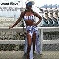 Галстук dyeWantmove печати 2017 летняя мода женщины длинные dress без бретелек две пьесы sexy club женщин сторона сплит макси платья XD624