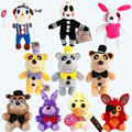 10pcs/set Five Night At Freddy's Stuffed Plush Toys FNAF Freddy Fazbear Bear Foxy Rabbit Bonnie Chica