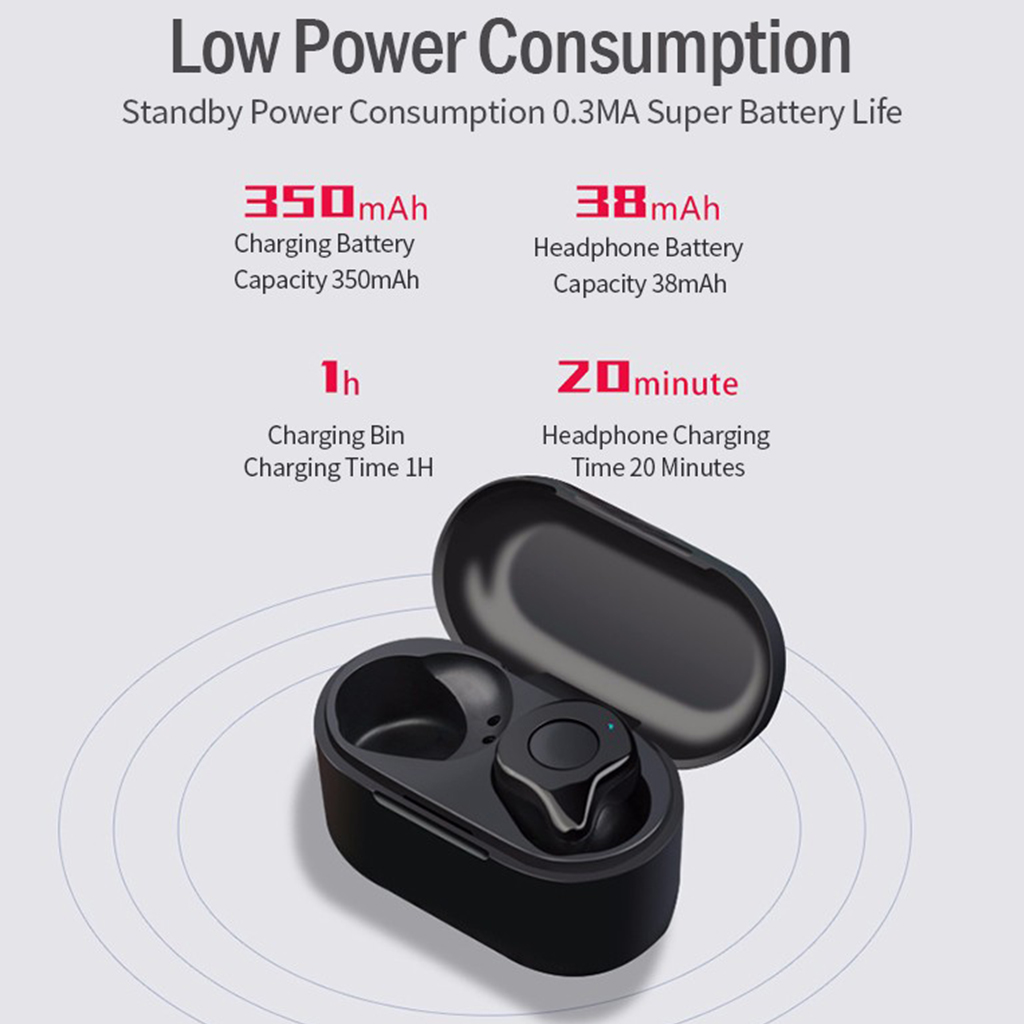 Mini Wireless Earphone YA12 TWS Bluetooth 5 0 Earbuds CVC Noise Cancelling 3D Stereo Sound With Microphone Charging Box in Bluetooth Earphones Headphones from Consumer Electronics